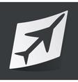Monochrome plane sticker vector image