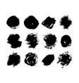painted round grunge brush strokes collection vector image