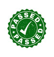 passed scratched stamp with tick vector image vector image