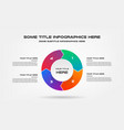 pie chart of percentage infographics element vector image
