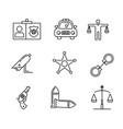 police element icon design vector image