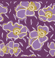 pretty bold flower pansy blooms pattern seamless vector image vector image