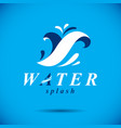pure aqua ecology symbol human water consumption vector image vector image