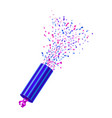 realistic party popper vector image