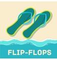 retro flat flip-flop icon concept design vector image vector image