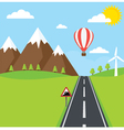 Road and Mountain vector image vector image