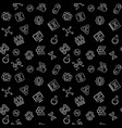 science and cloning seamless pattern in vector image