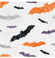 seamless halloween grunge pattern with bats vector image vector image