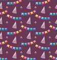 Seamless Holiday Pattern with Colorful Buntings vector image