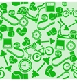 Seamless pattern fitness Monochrome green vector image vector image