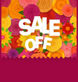 season sale off concept spring floral seamless vector image