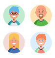 set flat design characters icons vector image vector image