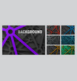 set of abstract background with cut lines with a vector image vector image