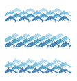 set of sea wave vector image vector image