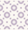 simple abstract geometric floral seamless pattern vector image vector image