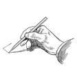 sketching vertical line horizontal or vertical vector image vector image