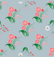 slavic diagonal seamless pattern of fairy flowers vector image