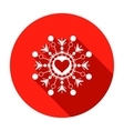 Snowflake heart view icon Christmas Valentine vector image vector image