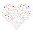 sqrt fireworks heart vector image vector image