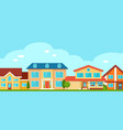 suburban cottage private houses vector image