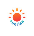 sunshine sunrise logo on white background vector image vector image