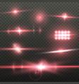 transparent lens flare effect set vector image vector image