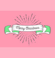 trendy retro ribbon with text merry christmas vector image vector image