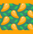 tropical seamless pattern with mango on a green vector image vector image