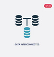 two color data interconnected icon from user vector image vector image
