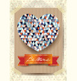 valentine card with stunning heart vector image vector image