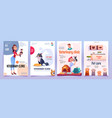 veterinary clinic banners set vet service posters vector image
