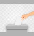 vote election banner background vector image vector image