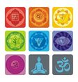 yoga set vector image