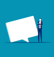 young business and a speech bubble social vector image vector image