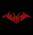 concept design card red devil vector image
