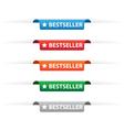 Bestseller paper tag labels vector image