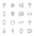 16 tasty icons vector image vector image
