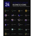 Abstract thin line business icons vector image