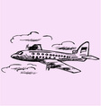airplane sky passenger airliner vector image