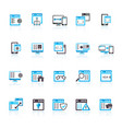application programming software icons vector image