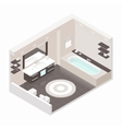 Bathroom isometric detailed set vector image vector image