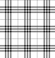 Black and white fabric texture tartan pattern