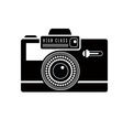 Black camera icon vector image vector image