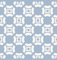blue and white geometric seamless pattern vector image vector image
