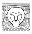 Chinese zodiac sign Monkey vector image vector image