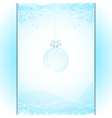Christmas bauble panel background blue vector image vector image