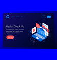 clinic health check up concept vector image vector image