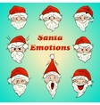 colored santa emotions vector image vector image