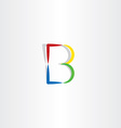 colorful logo b letter b symbol icon vector image vector image