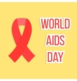 concept world aids day with red ribbon vector image